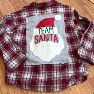 Christmas Santa Upcycled Gymboree Flannel Size 2T